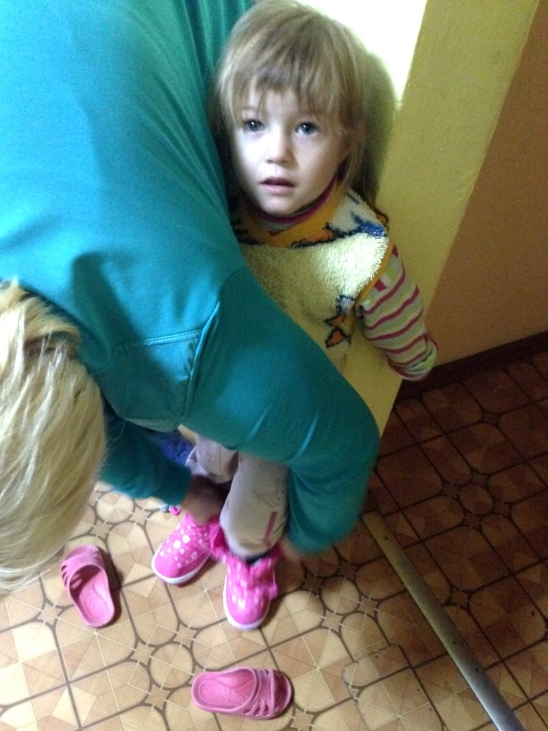 an orphan girl in kharkiv