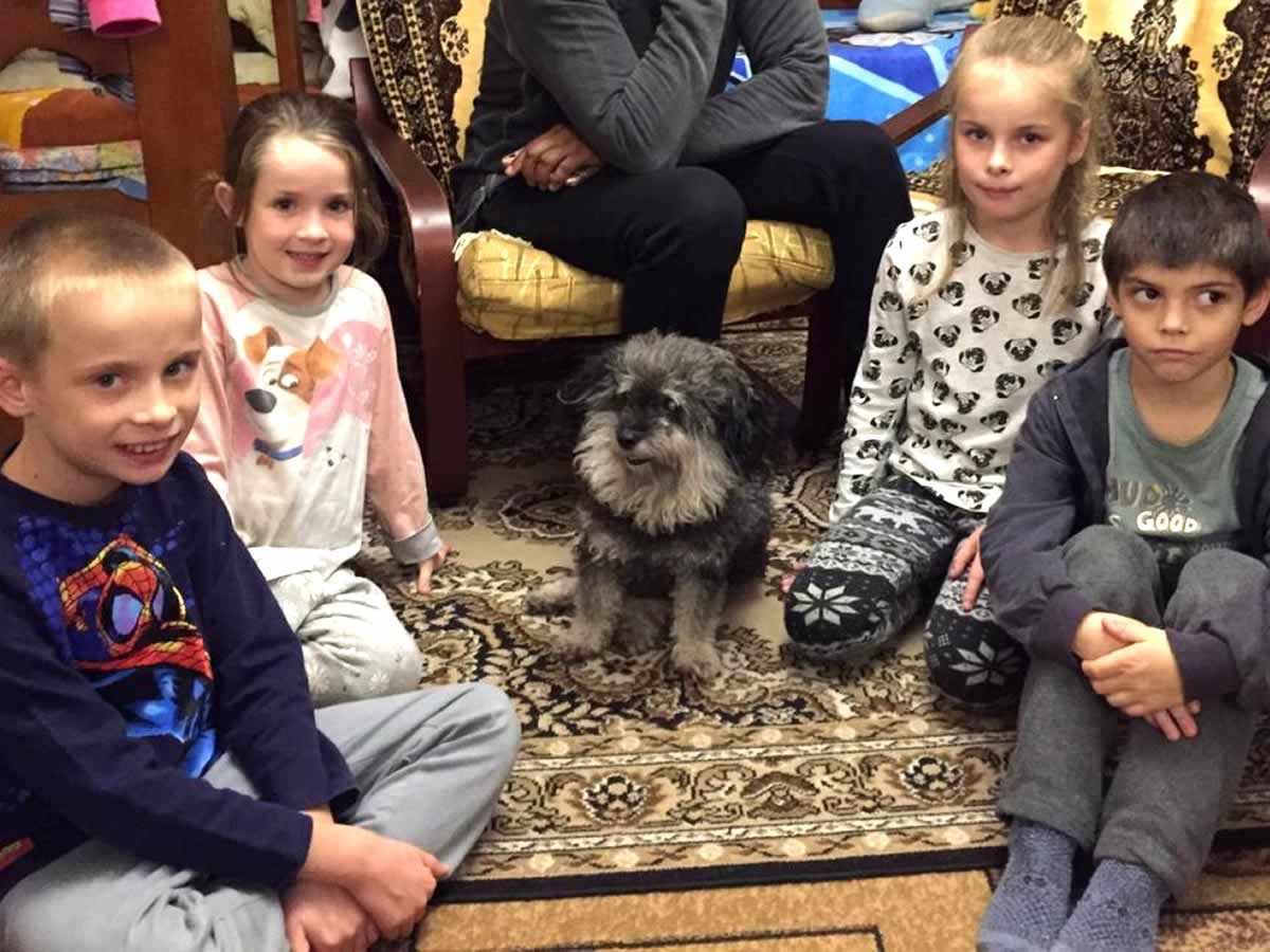 Willie visits a foster family in Zaporizhia Ukraine