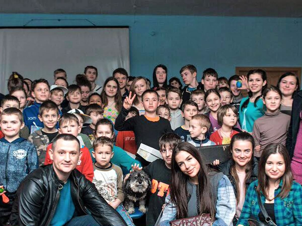 Willie visits the orphanage in Boyarka Ukraine