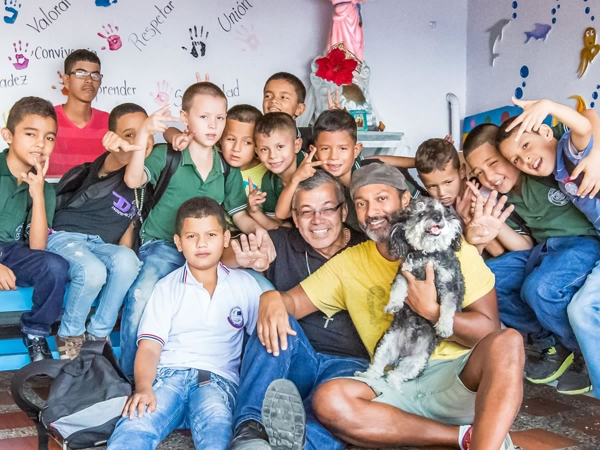 Willie visits the boys orphanage in Medellin Colombia