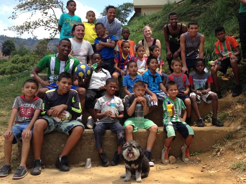 Willie visits the orphanage in Medellin Colombia