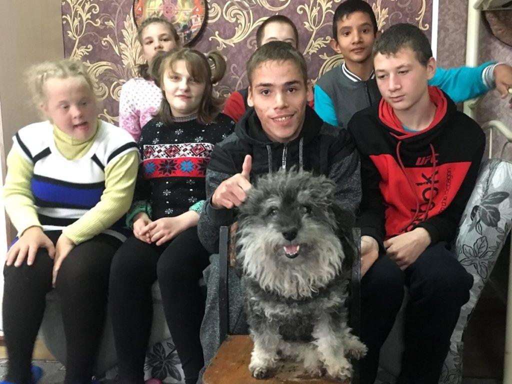 Willie visits the orphanage in Odessa Ukraine