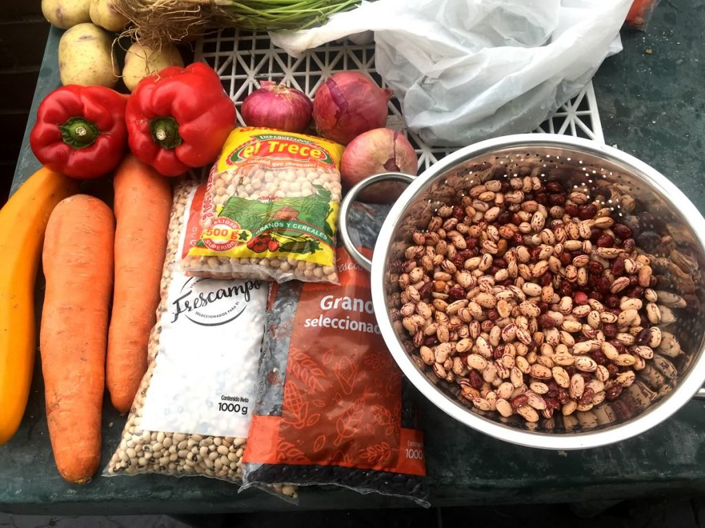 Ingredients for Willie's healthy bean salad