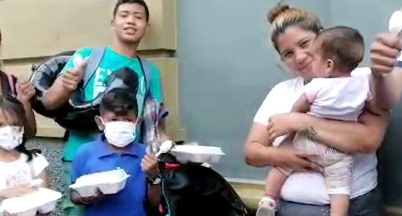 Venezuelans at a COVID-19 shelter in Medellin