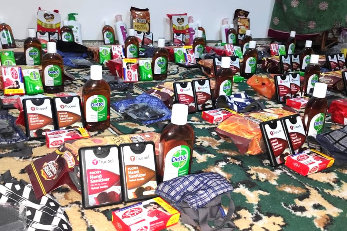 COIVID-19 supplies for the orphans in Nagan India