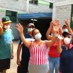 Displaced Venezuelans at a COVID-19 shelter in Colombia send their thanks to Willie